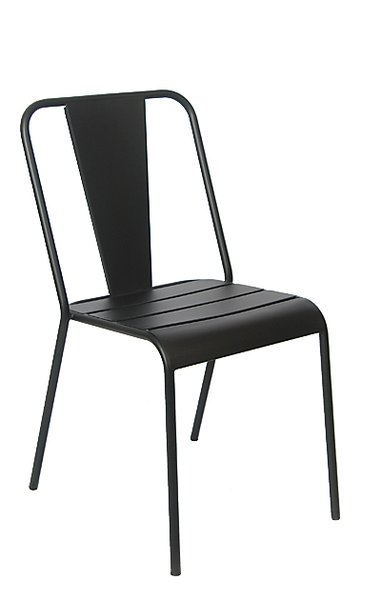 Outdoor Wrought Iron Restaurant Cafe Side Chair
