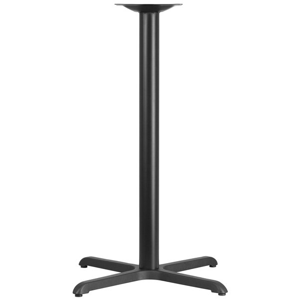 "Cast Iron Table Base with 3"" Column and X-Base"