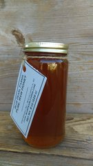 Honey, 8 ounces pure, raw, unfiltered wildflower honey