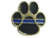 Thin Blue Line Paw Pin
