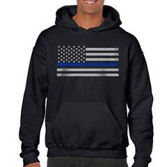 HOODIE - THIN BLUE LINE AMERICAN FLAG CLASSIC