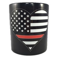 Thin Red Line Hear Mug