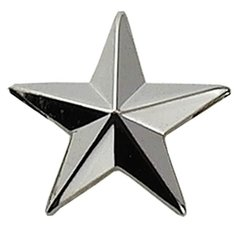 "1/2"" 5 Year Service Star Nickel"
