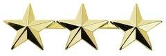 """1/2"""" 15 Year Service Stars Gold"""