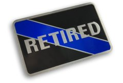 Retired Thin Blue Line Vehicle Decal