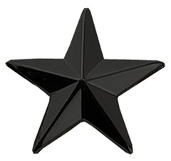 "1/2"" 5 Year Service Star Black"