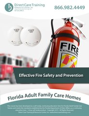 Florida Adult Family Care Home CEU Product - Effective Fire Safety (3 CEUs)