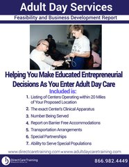 Adult Day Services Feasibility Study - A Pre-Investment Necessity