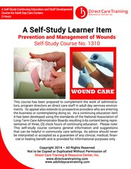 Adult Day Care Training Course No. 1310 - Prevention and Management of Wounds (3 CEU)