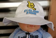 IT'S ALL GOOD IN HAWAII KEIKI SUN HAT