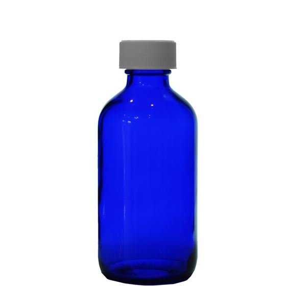 8 Oz Cobalt Blue Glass Boston Round 8 Ounce Bottle With