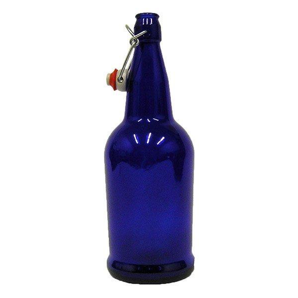 1 Liter Cobalt Blue Beer Bottle With E Z Cap Swing Top