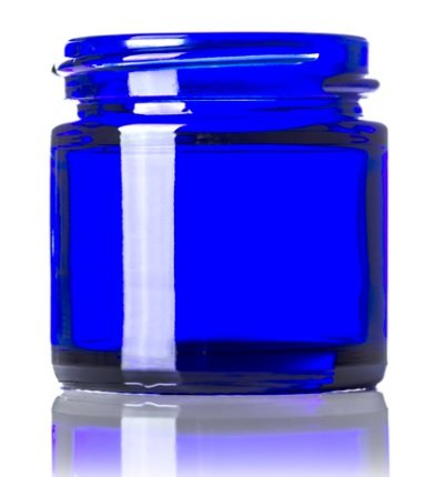1oz Cobalt Blue Glass Jar 1 Ounce Cosmetic Jar