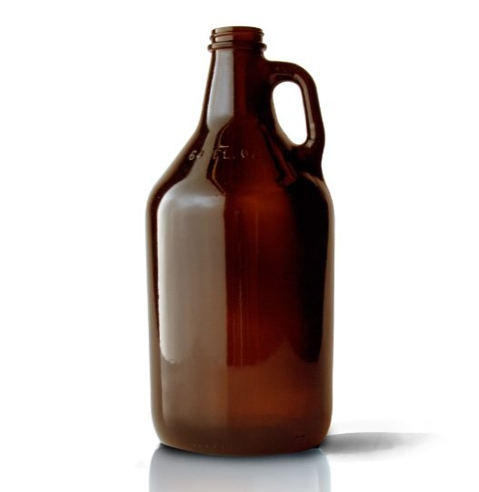 64 Oz Round Amber Glass Beer Growler 64 Ounce Case Of 12