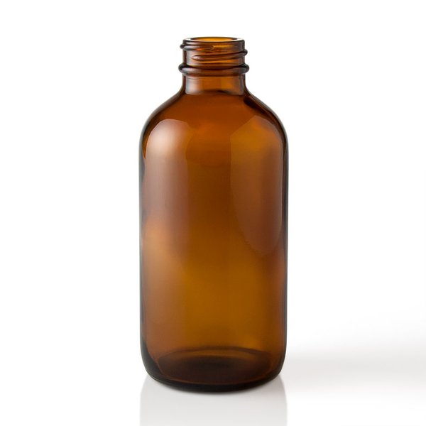 8oz Amber Glass Boston Round 8 Ounce Bottle Wholesale