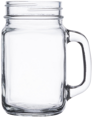 16oz Mason Jar With Handle 16 Ounce Clear Glass Case Of