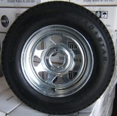 "15"" Galvanized Wheel and Tire"