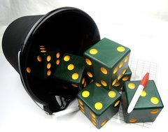 Packer Wooden Yard Dice - Set of 6