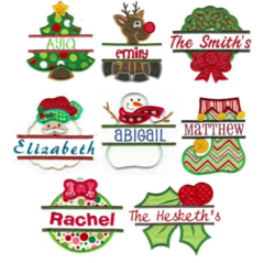 Christmas Split Appliqué Designs