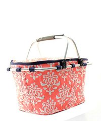 Bloom Damask Insulated Market Tote with Lid