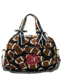 Football Quilted Duffel Bag