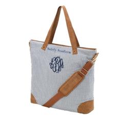 Seersucker Shoulder Bag