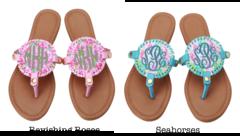 Patterned Medallion Sandals