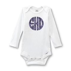 Infant Bodysuit for Appliqué