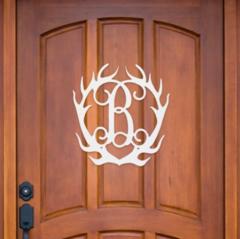 Wooden Antler Monogram