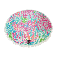 Coral Reef Sand Circle Beach Towel
