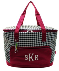 Houndstooth Insulated Cooler Tote