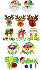 Here Comes Santa Appliqué Designs