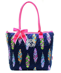 Fancy Feathers Quilted Shoulder Bag