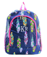 Fancy Feathers Large Backpack
