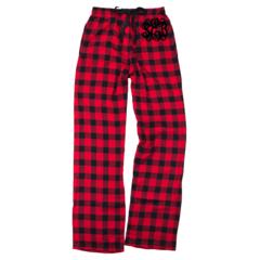 Monogrammed Plaid Flannel Pants