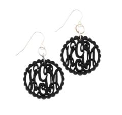 Scallop Acrylic Monogram Earrings