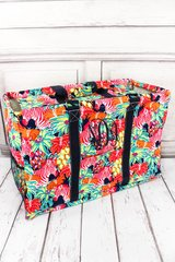 Jungle Life Collapsible Haul-It-All Basket with Lid