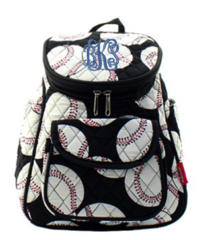 Baseball Quilted Petite Backpack