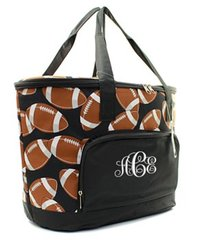 Football Insulated Cooler Tote