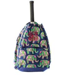 Preppy Elephants Tennis Racket Bag
