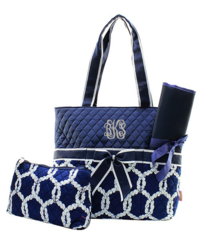 Anchor Rope Quilted Diaper Bag