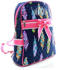 Fancy Feathers Quilted Backpack