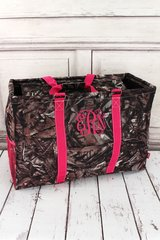 Natural Camo Collapsible Double Haul-It-All Basket with Lid