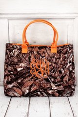 Natural Camo Quilted Large Shoulder Tote