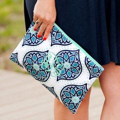 Patterned Zip Pouch