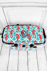 Hold Your Seahorses Insulated Market Tote with Lid