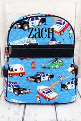 To The Rescue Quilted Backpack