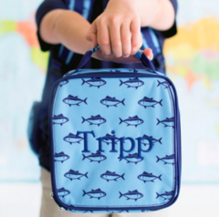 Monogrammed Patterned Lunch Box