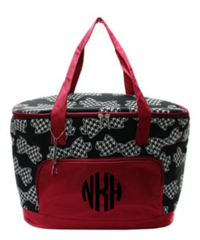 Houndstooth Bow Tie Insulated Cooler Tote