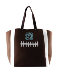 Football Laces Large Tote Bag